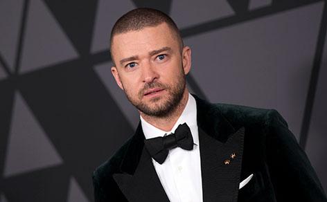 Justin Timberlake lacht