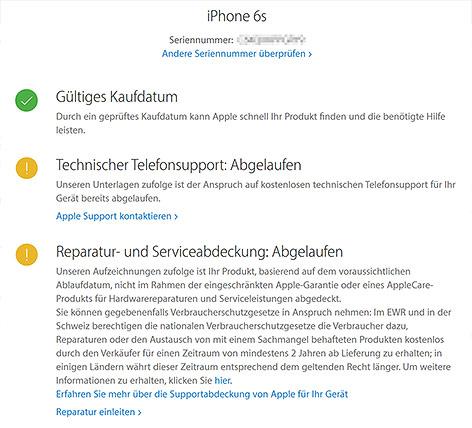 Screenshot von apple.com