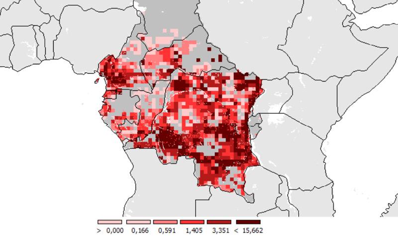 Prognostizierter Verlust an Waldfläche bis 2030 (in 1000 Hektar)