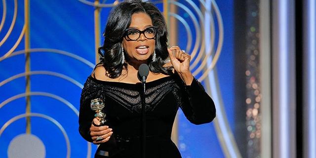 Oprah Winfrey bei ihrer Rede bei den Golden Globes