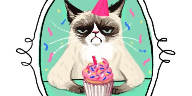 Katze, Geburtstagskarte