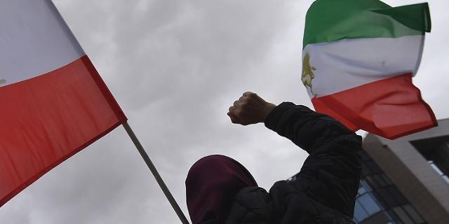Unterstützungsproteste für Iran in Brüssel