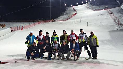 Das Ö3-Team der Ski-Challenge am Zielhang der Planai in Schladming