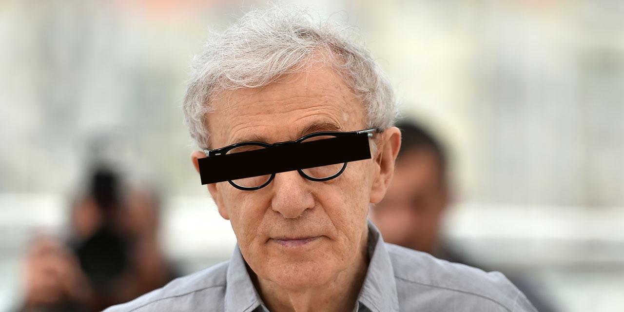 Woody Allen mit Balken vor den Augen