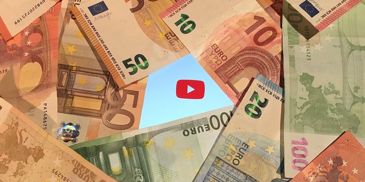 Das Cover eines Youtube Videos: Geldscheine und ein Playbutton