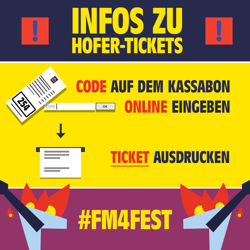 Infografik zu Hofer Tickets