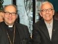 Bischof Hermann Glettler und der neue Generalvikar der Diözese Innsbruck, Florian Huber