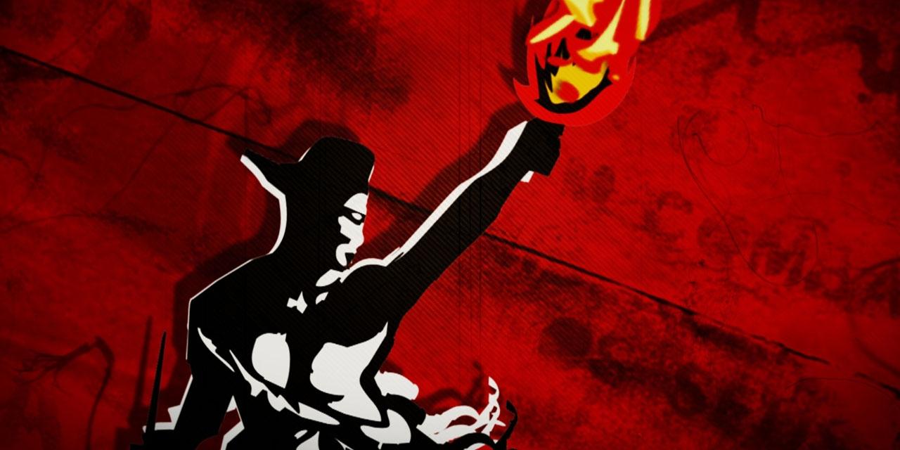 Logo des Protestsongcontests - Fackelträger