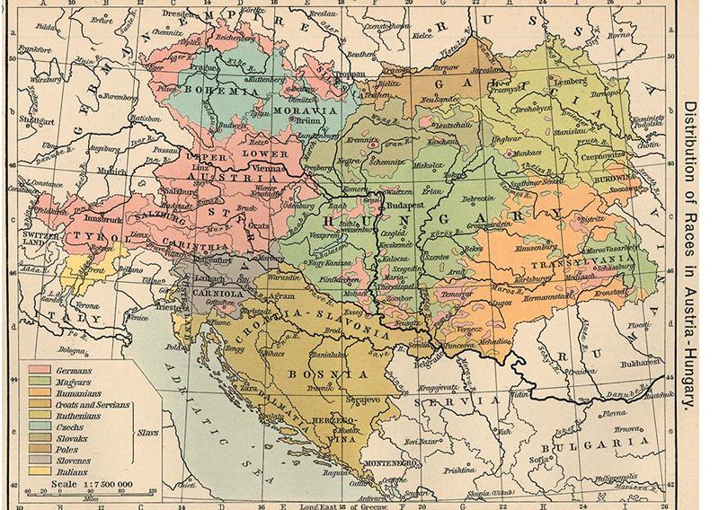 Sprachverteilung in Österreich-Ungarn