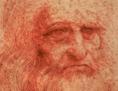Selbstporträt von Leonardo Da Vinci mit roter Kreide