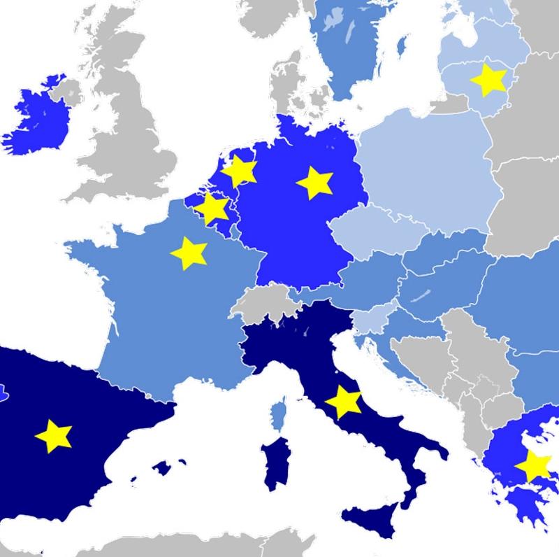 Grafik der an PESCO teilnehmenden EU Staaten
