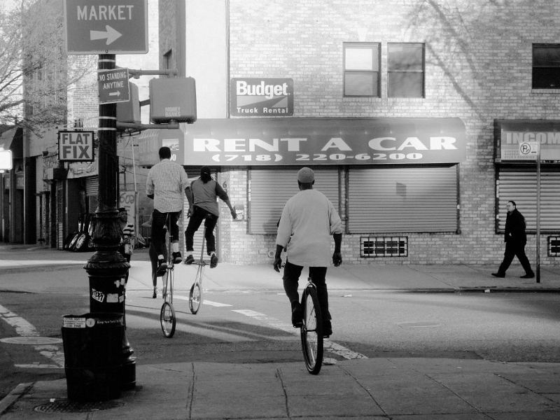 Unicycle in New York