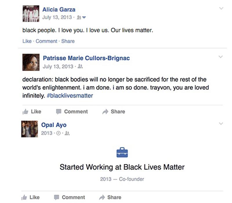 Black Lives Matter Tweet