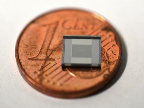 Sensor und Ein Cent-Münze