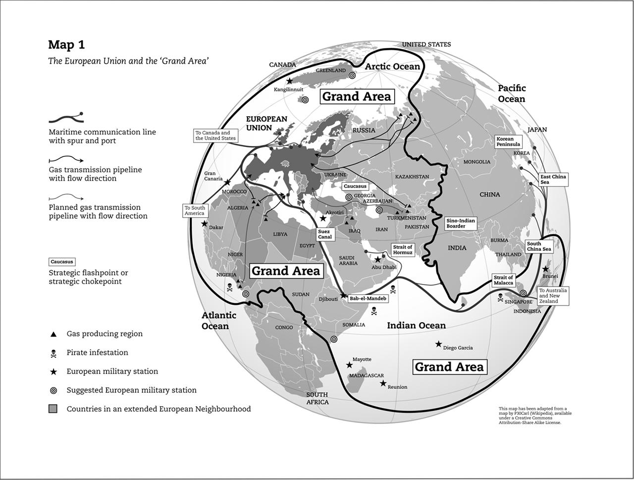 "Screenshot aus dem Dokument ""A New Geography Of European Power?"" des Egmont Instituts"