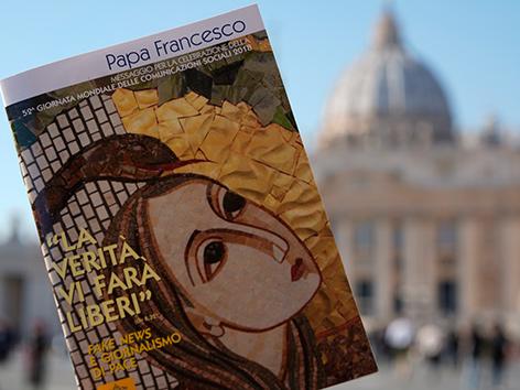 """Papst Franziskus' Schreiben """"Die Wahrheit wird euch frei machen"""" anlässlich des 52. katholischen Welttags der sozialen Kommunikationsmittel"""
