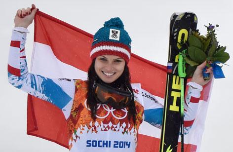 Anna Veith bei den Olympischen Spielen in Sotchi 2014