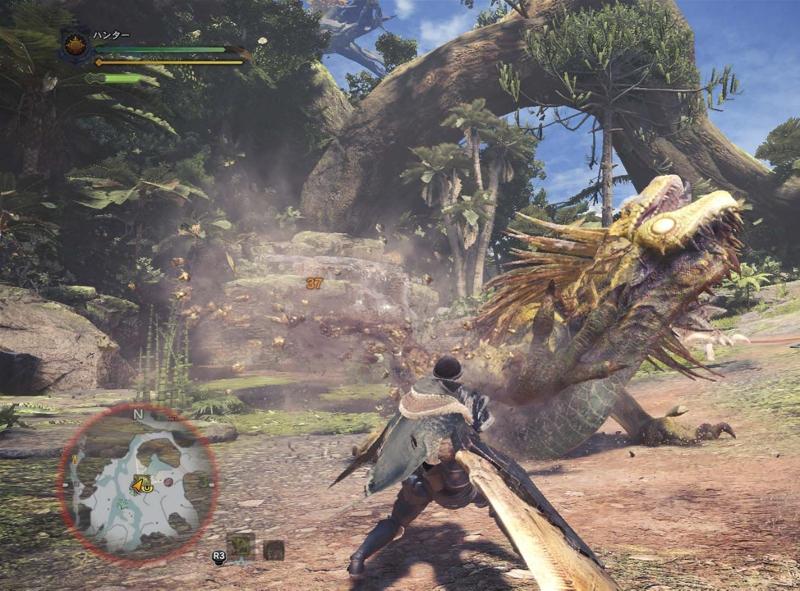 Eine Spielescreenshot von dem Spiel Monster Hunter World