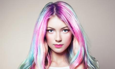 Regenbogen Haartönung