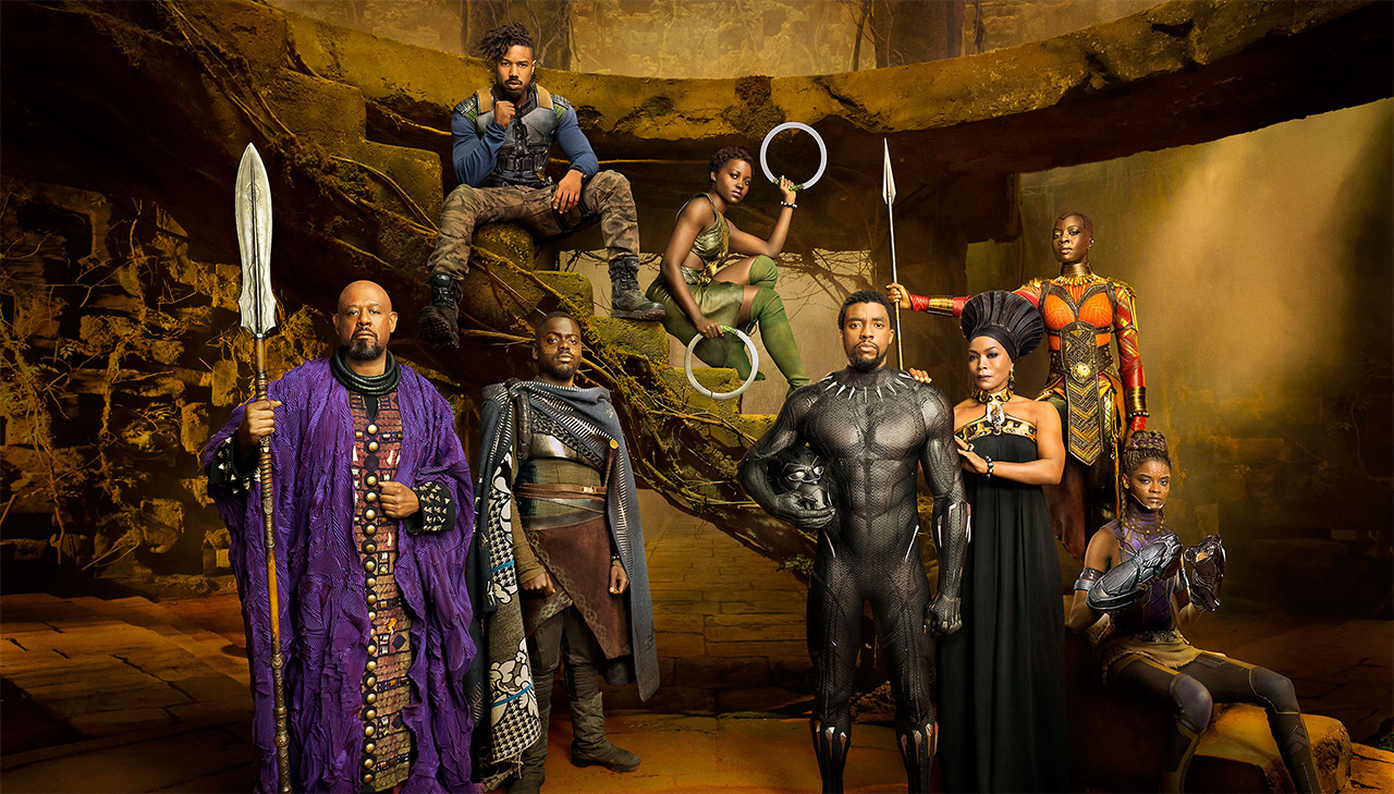 Black Panther und Ensemble