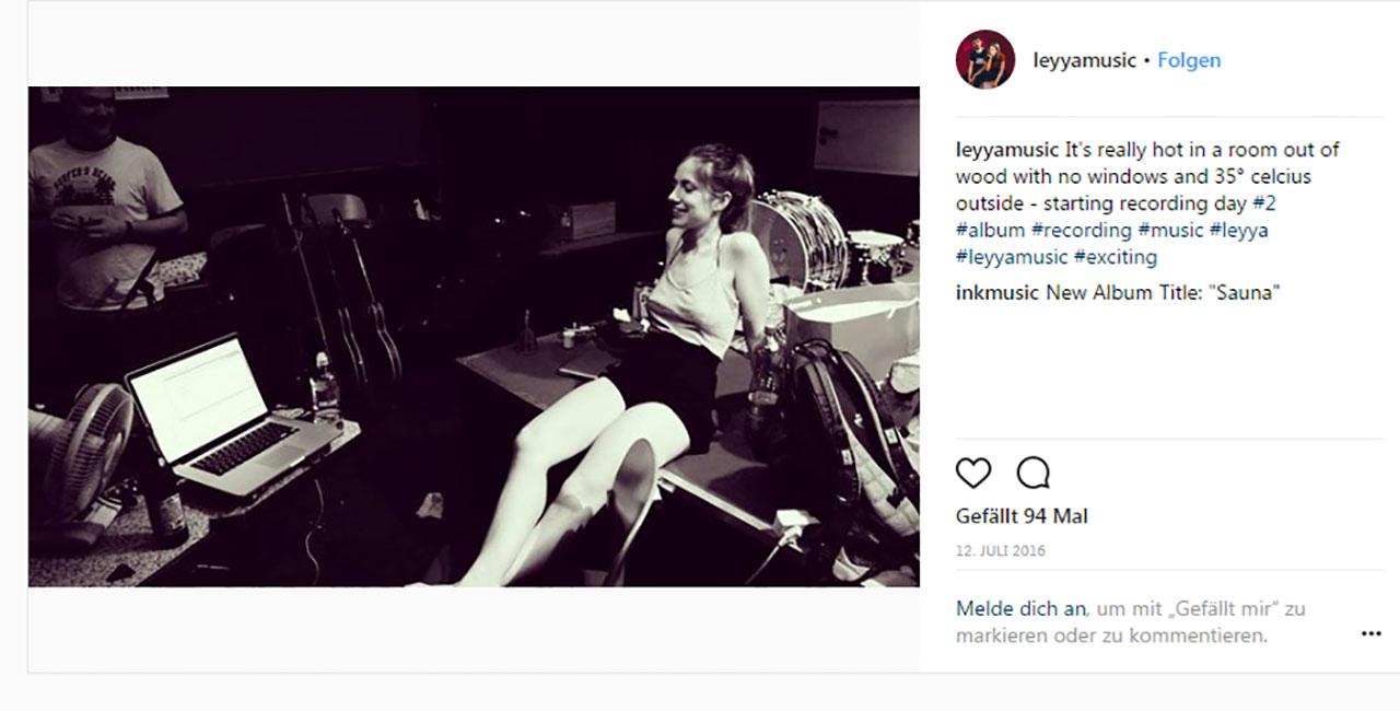 Instagram-Posting von Leyya