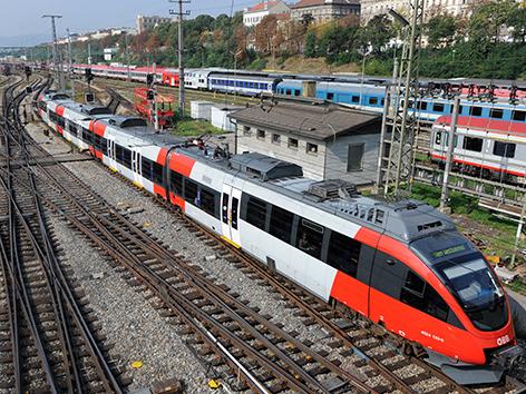 Ein Railjet der ÖBB