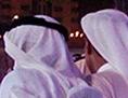 Qasr al Hosn Festival in Abu Dhabi: Männer in weißen Gewändern