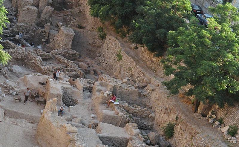 Vogelperspektive der Ausgrabungen in Sidon