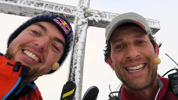 Tom Walek und Matthias Walkner lachen
