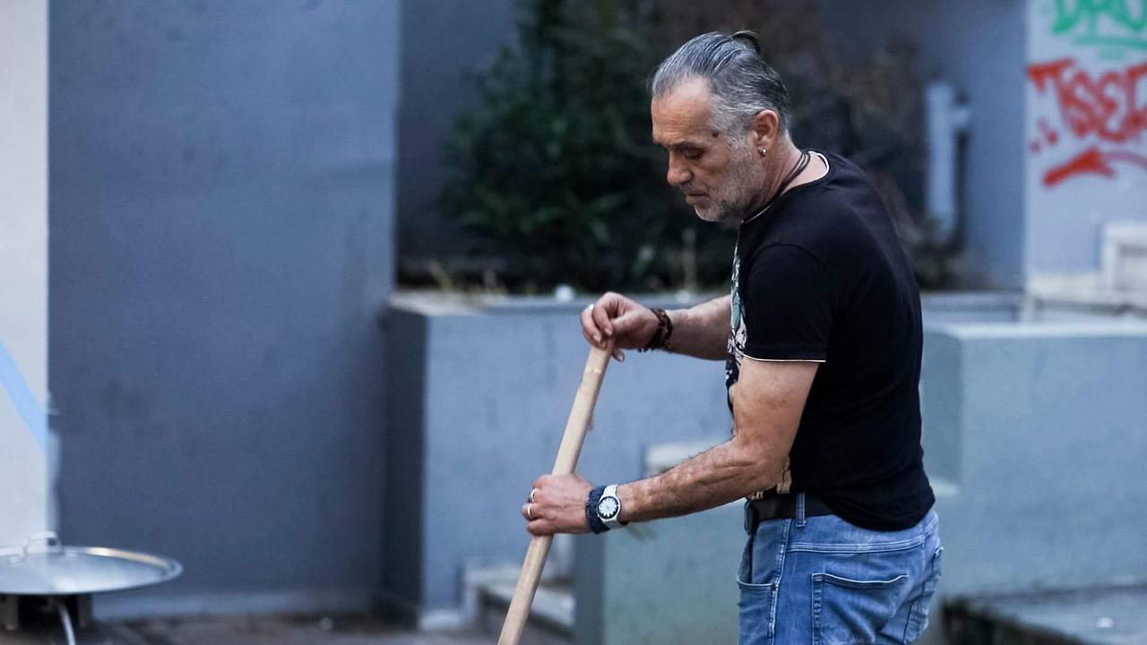 Tasos Smetopoulos beim Kehren