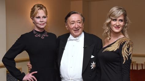 US- Schauspielerin Melanie Griffith und Richard Lugner mit Begleitung Simona am  Opernball 2018