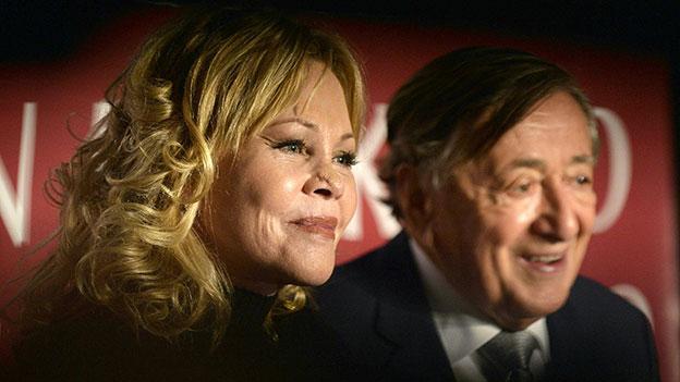 Melanie Griffith und Richard Lugner bei der Pressekonferenz