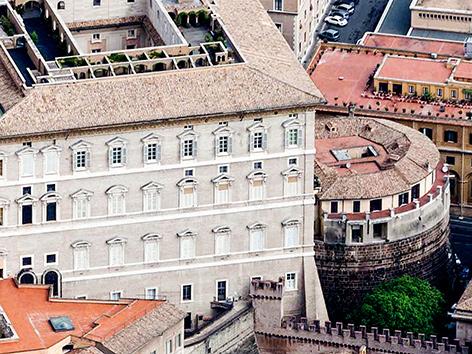 Blick auf das Gebäude der Vatikanbank IOR
