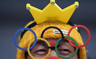 Fan mit Olympiaringen