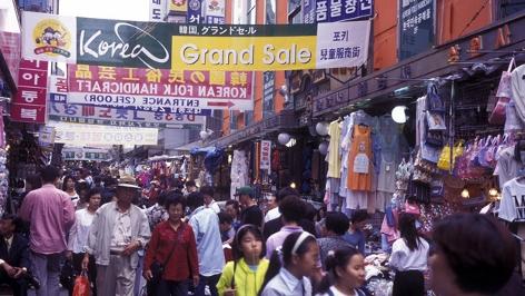 Einkaufsstraße in Südkorea