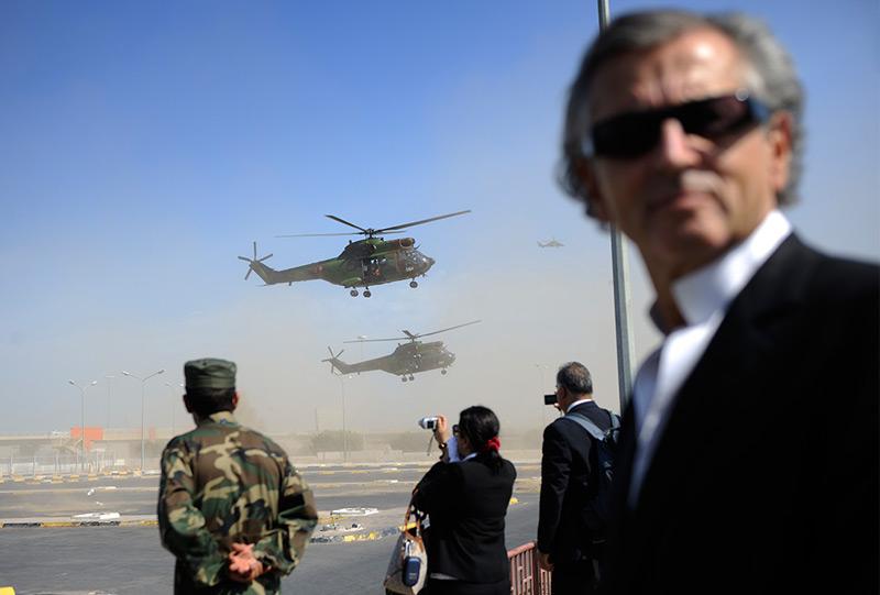 Levy im September 2011 in Tripolis, kurz nachdem die Anhänger von Muammar al-Gaddafi die lybische Hauptstadt verloren hatten