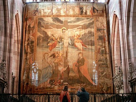 Fastentuch aus dem Jahr 1612, Altarraum Freiburger Münster