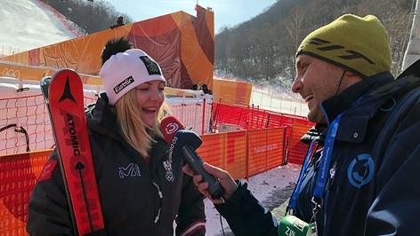 Bronzemedaillen-Gewinnerin Katharina Gallhuber im Interview mit Wolfgang Eichinger