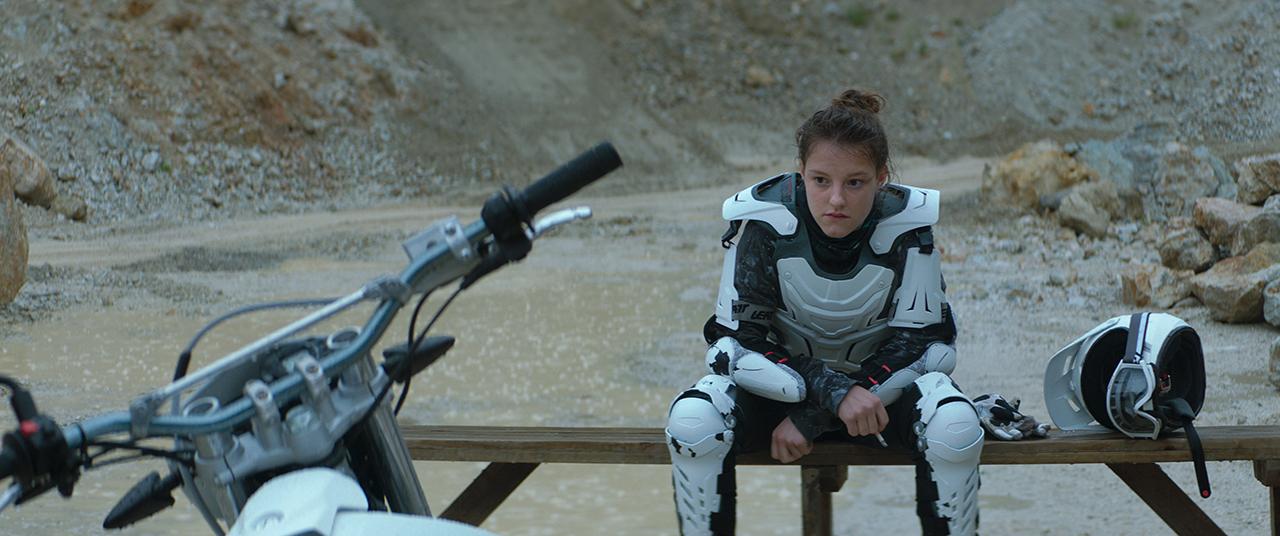 Frau Motorrad