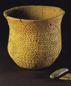 4.500 Jahre alter Topf der Glockenbecherkultur aus Newmill/Schottland
