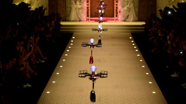Drohnen bei der Mailänder Fashionweek