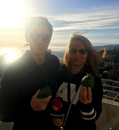 Gabi Hiller und Philipp Hansa in Hollywood