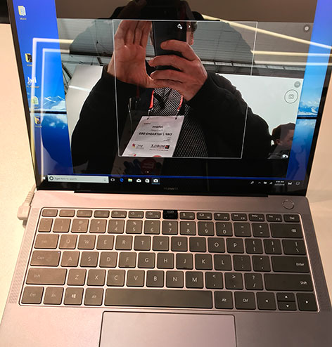 Highlights vom Mobile World Congress Huawei Notebook mit versteckter Kamera
