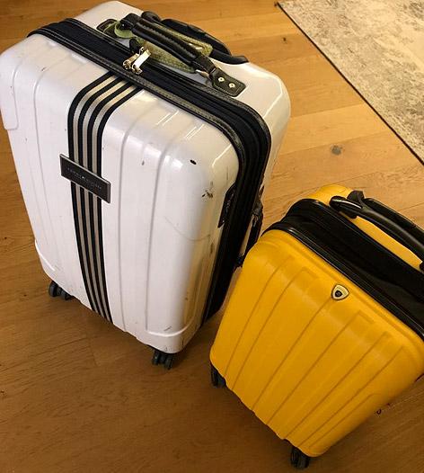Die Koffer von Gabi Hiller und Philipp Hansa