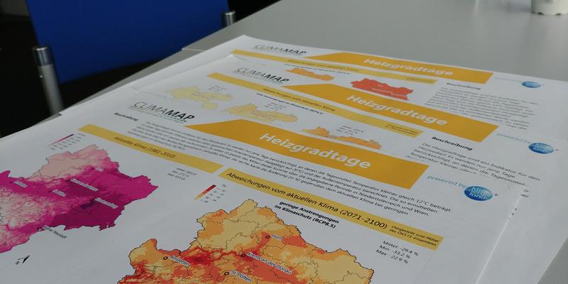 Klimakarten von österreichischen Regionen