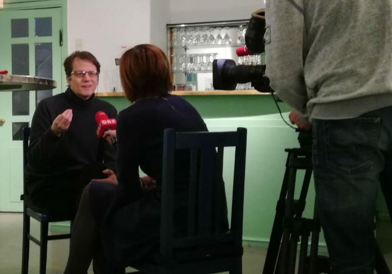 Frederick Baker im Interview mit dem ORF