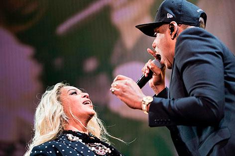 Beyonce und Jay-Z gemeinsam auf der Bühne