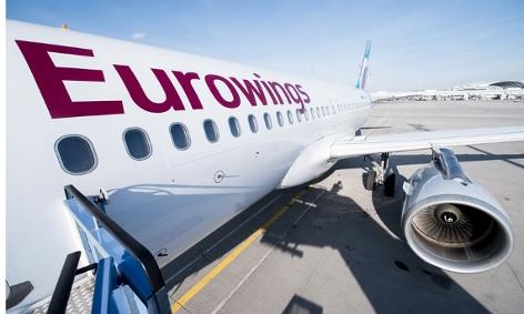 Eurowings Flugzeug nah