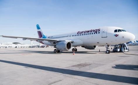 Eurowings Flugzeug totale
