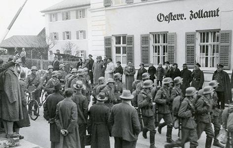 Grenzübertritt der deutschen Armee